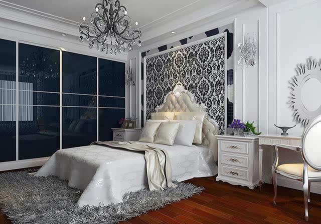 欧式简约装修,现代感十足卧室!