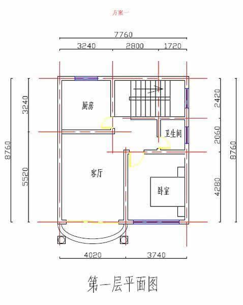 设计图分享 二层二套自建房设计图  140平方的商品房设计图要多少钱