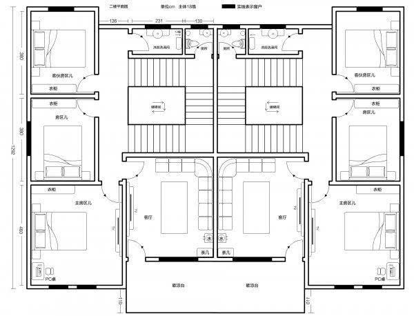 双拼农村预计10万合建货栈自建房1级图纸兄弟