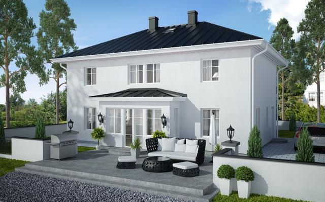 欧式庄园风格农村自建房户型案例图片