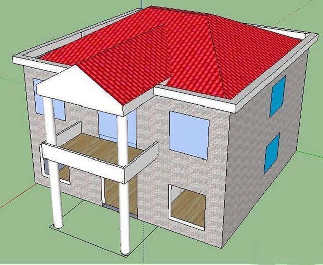 cad房子矢量图