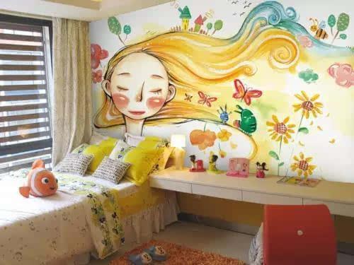 卧室的手绘墙可以