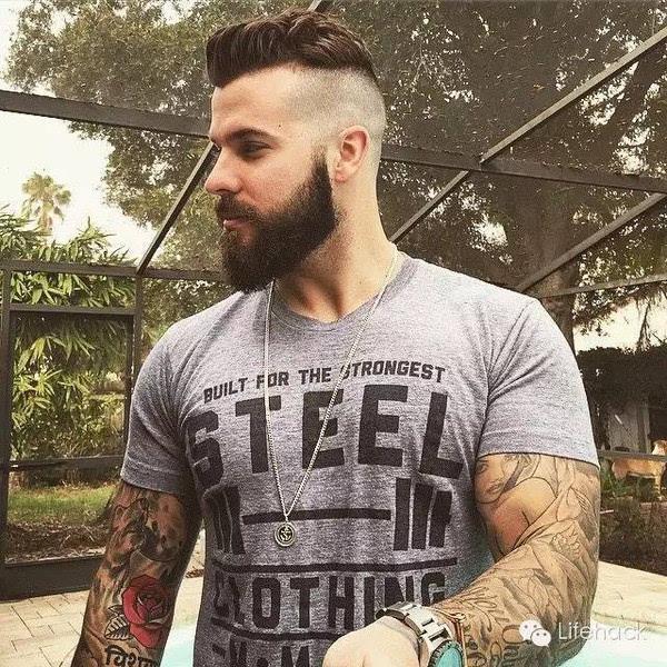 真气场丨个性爷们酷发型,这帮男人的图片简直丸子的胡子头纹身图片