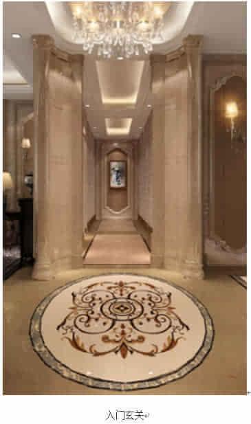 欧式圆形玄关:玄关,十字过厅