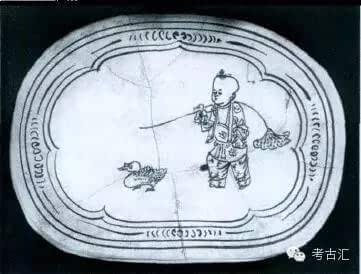 古代肚兜娃娃手绘