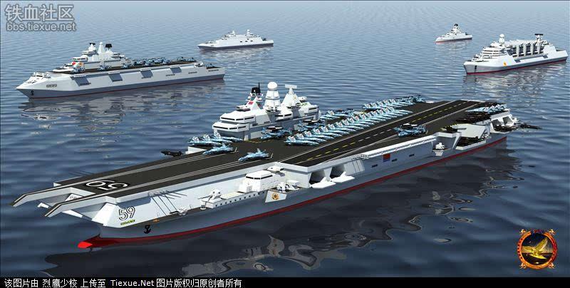[原创]中国海军宁夏号航母编队
