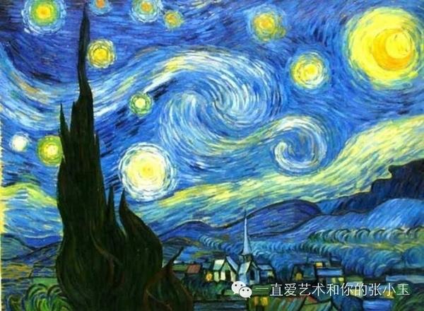 咱们以一幅梵高的作品《星空》为例,看看可以有哪些联想. 1.
