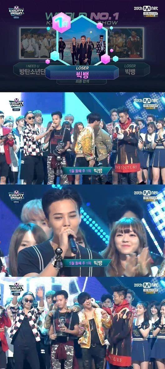 霸气男团BIGBANG《M Count Down》夺冠