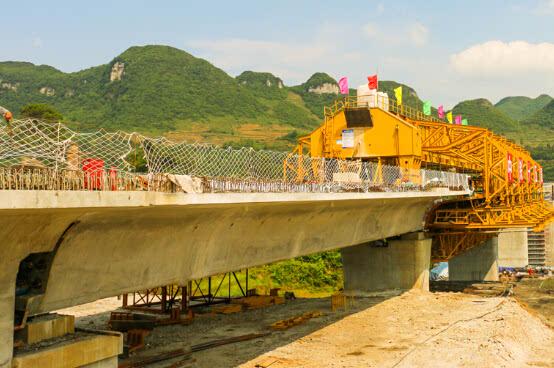 成贵铁路13标段移动模架制梁通过首件工程评估图片