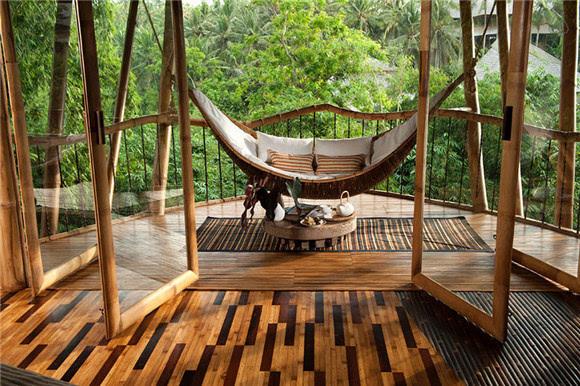 现在hardy已经建了40多座独特的竹子结构.