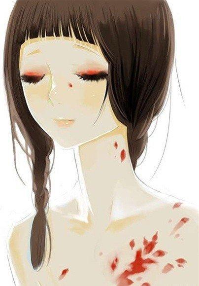 唯美插画手绘美图伤感二次元图片