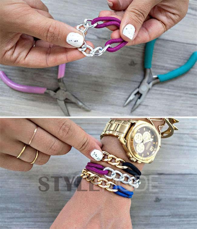 用编织手法让你的手链华丽变身