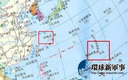 关岛的地理位置    关岛是美军在西太平洋的重要基地,被称为