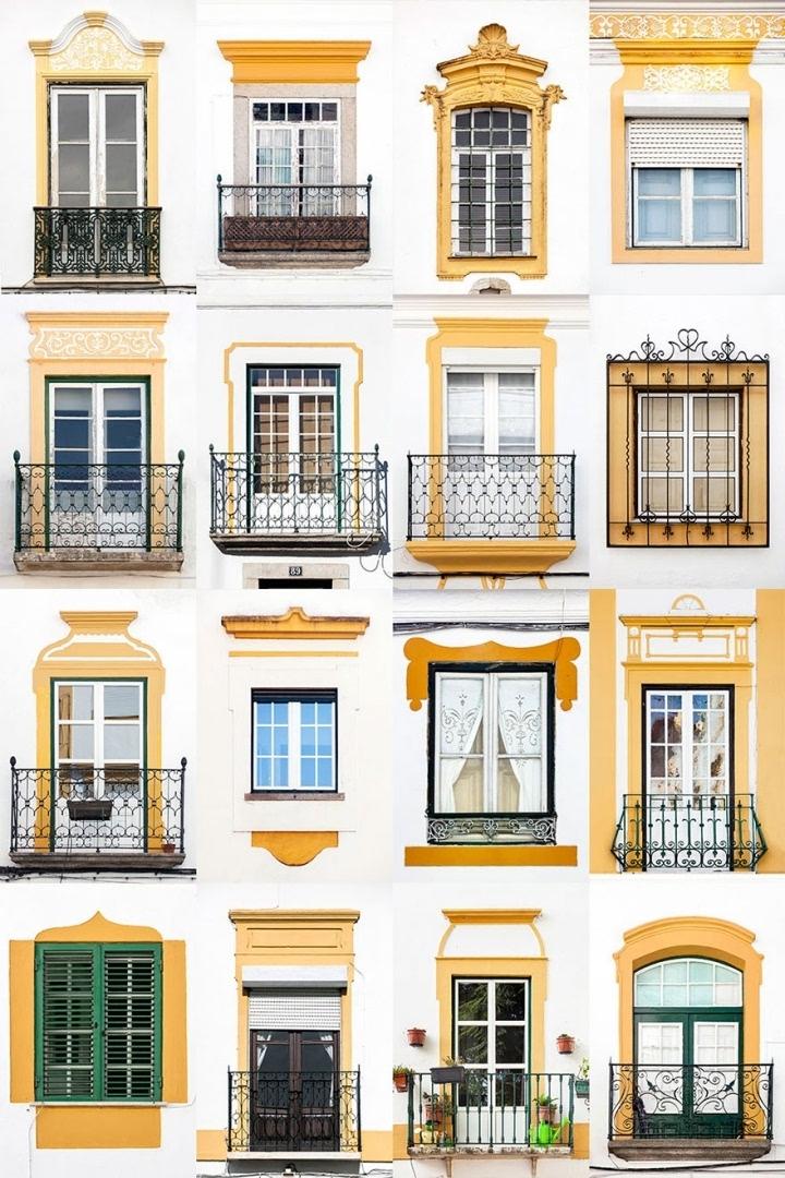 老建筑窗户矢量图