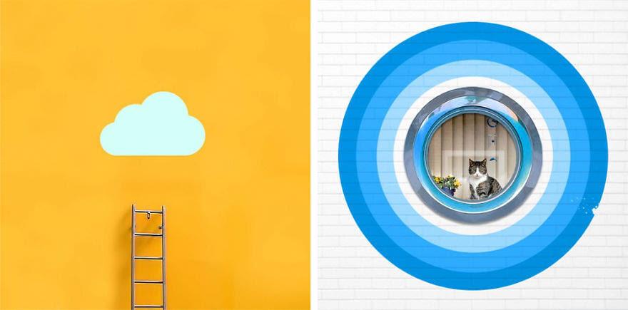 小型对称色彩丰富建筑结构图片赏析