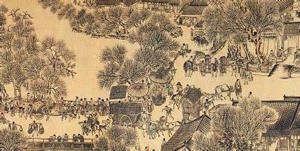 清明上河图历史背景图片