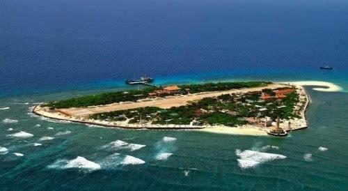 南沙群岛最新填海囹�a_\