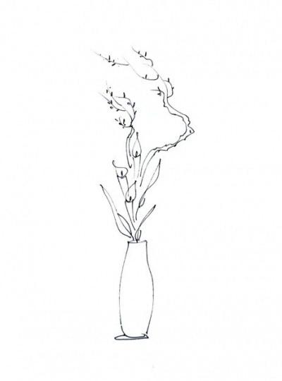 图解花瓶插花 七步插制有东方韵味的作品
