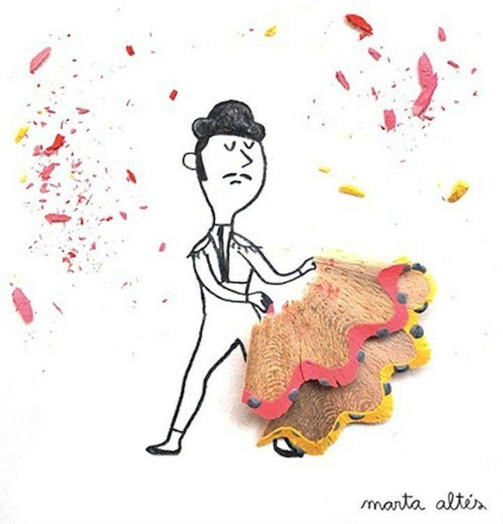 卡通手绘彩色画