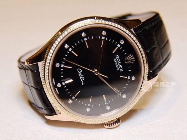 [ 腕表之家 ]腕表品鉴:劳力士切利尼玫瑰金黑盘镶钻腕表