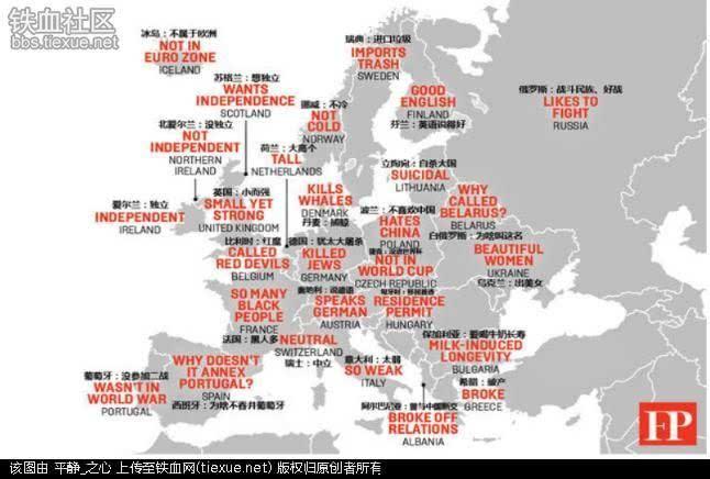 眼中的欧洲地图