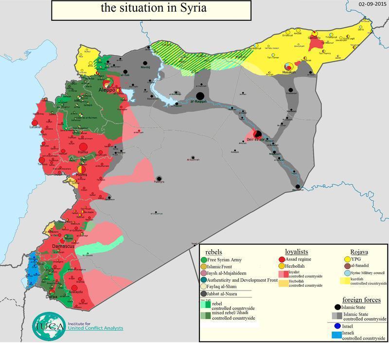 叙利亚控制地图