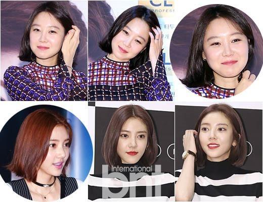 韩国短发女明星