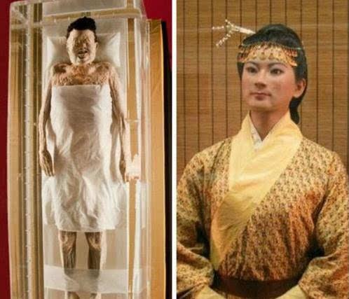 中国十大千年古尸复原容颜图片