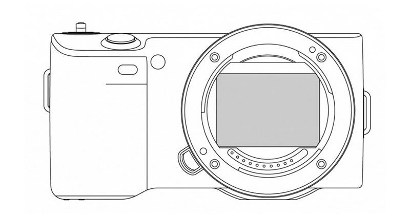 复古相机手绘线稿