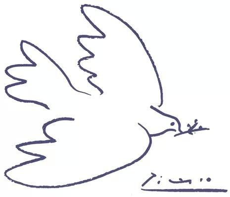 和平鸽的简易画法 和平鸽的画法步骤 白鸽简笔画三步完成 和平鸽简笔画三