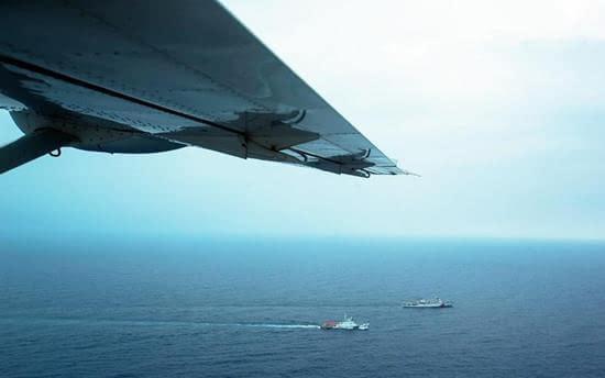 中国舰船西沙海域联合巡航执法 水上飞机首次参加