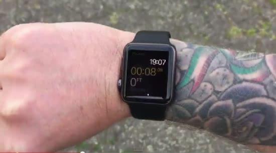 手腕位置,怀疑一些深色纹身的颜料,如黑色和红色会阻挡手表的感光度