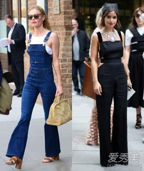 背带裤如何搭配更时髦 街拍达人为你演绎最chic的穿法(2)