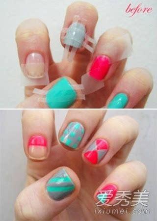 美甲指甲短怎么做美甲