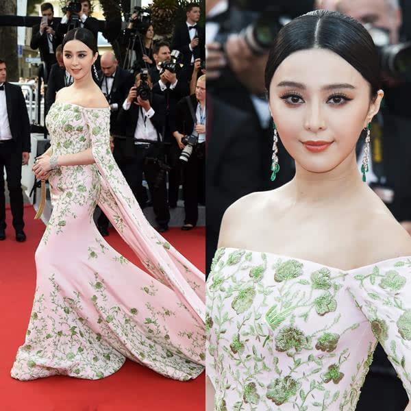2015上选68届戛纳电影节,已经是轻车熟路的范冰冰在红毯爱情择了淡雅件年第旗袍电影片图片
