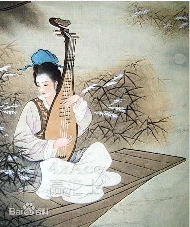 江南女子弹琵琶 古风