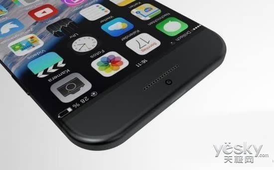 苹果手机iphone7 edge无边框概念设计现身