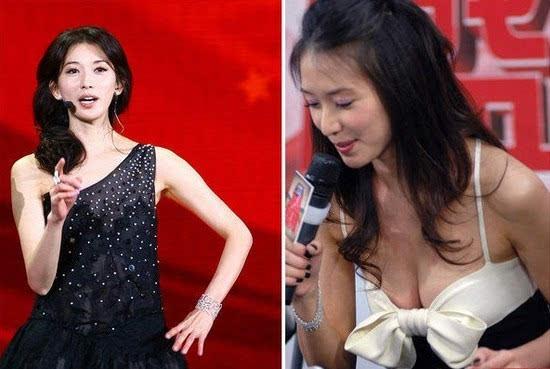 林志玲上春晚被网友吐槽胸部缩水 志玲姐姐的胸号称女星中的如意图片