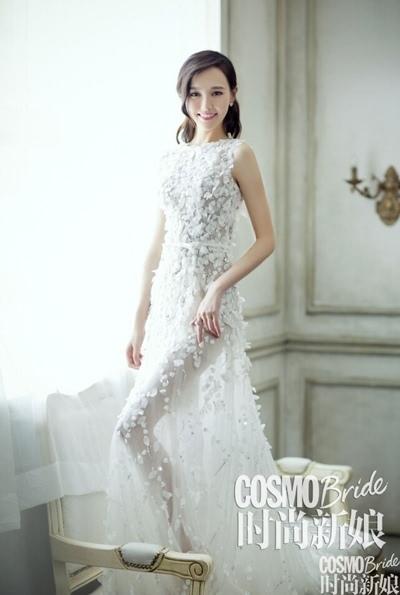 唐嫣《时尚新娘》大片