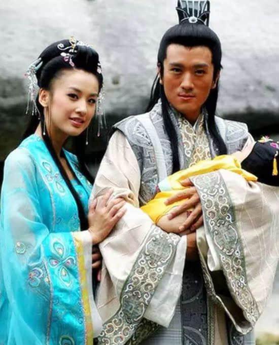 黄圣依和杨子主演的电视剧《天仙配》剧照.