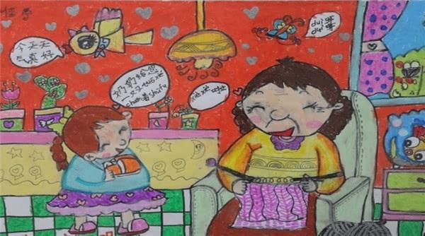 济南 讲文明树新风主题儿童绘画作品印上公交车