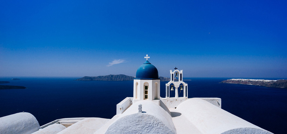 希腊 圣托里尼 蒂朗岛 天空 风景桌面壁纸