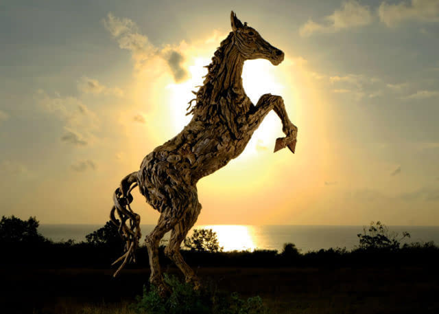 沉木艺术!树也可以雕刻的这么美