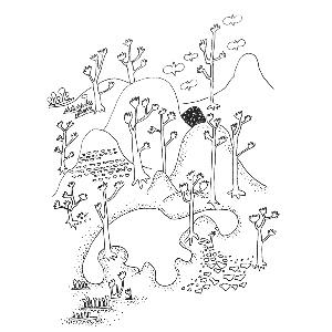 探头树枝简笔画