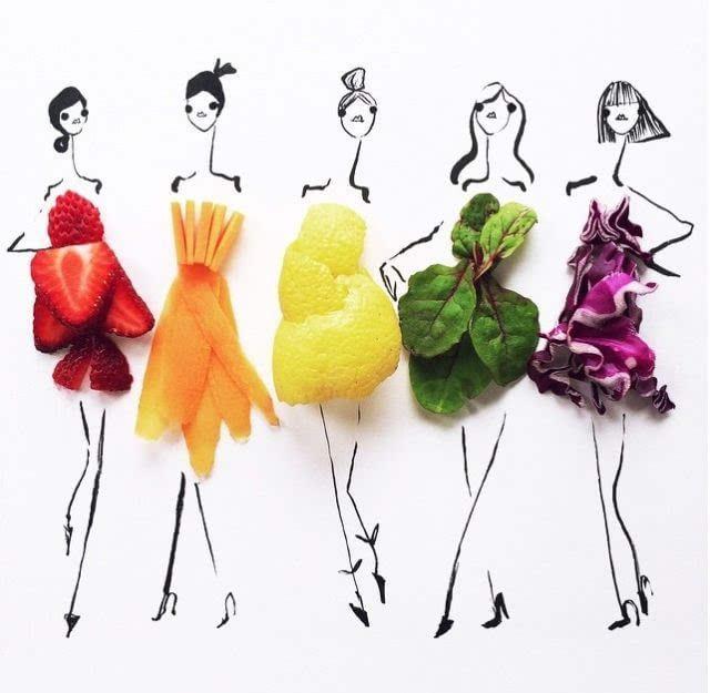女性的福利 让蔬菜或水果成为你美丽的衣服