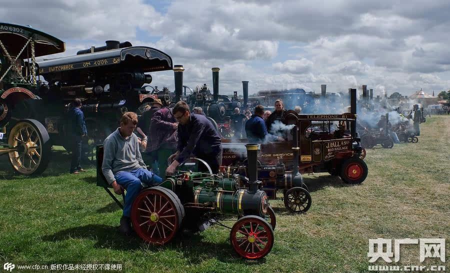 超过40架蒸汽动力引擎,30架微型蒸汽发动机,商用车,古董和经典汽车