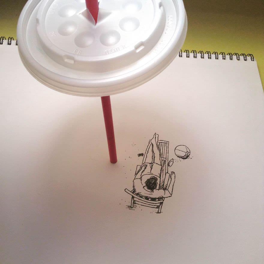 创意虚实结合手绘画作欣赏