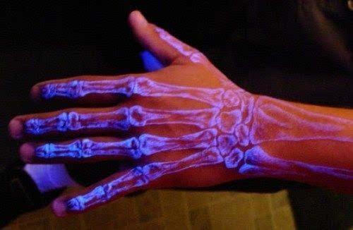 手腕上的花体数字纹身图案