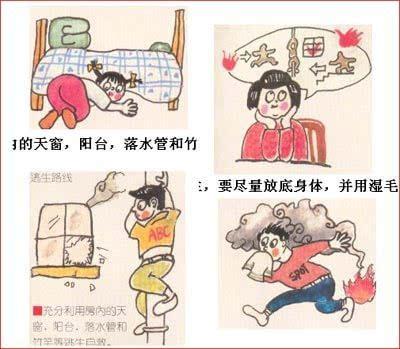 家庭火灾逃生图_家庭火灾逃生方法图4