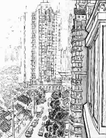 高楼大厦与危棚简屋